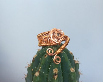 Handmade Demantoid Garnet Adjustable Ring