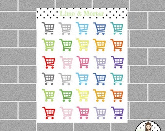 Trolley Mini Icon Planner Stickers