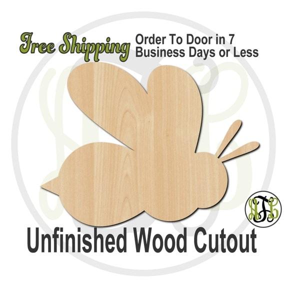 Bee Mascot - No. 60501- School Spirit Cutout, unfinished, wood cutout, wood craft, laser cut shape, wood cut out, Door Hanger, wooden