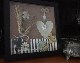 Shadowbox Heart and Butterfly