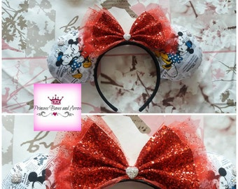 Minnie Mouse old style Minnie and Mickey mouse ears headband
