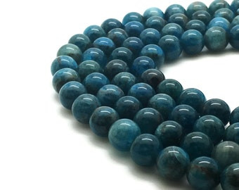 6mm Natural Apatite Beads Round 6mm Apatite 6mm Apatite Beads Apatite Stone Apatite Gemstone Blue Stone Beads Round 6mm Beads