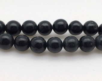 8mm Natural Biotite Beads Round 8mm Biotite 8mm Biotite Beads Biotite Gemstone Biotite Stone Black Black Beads Round 8mm Beads