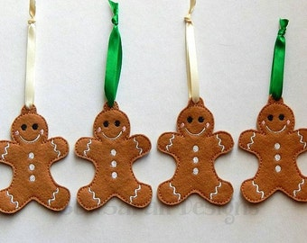 ITH Gingerbread Man Christmas Ornament (4x4)