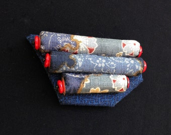 Textile Brooch Japanese Print