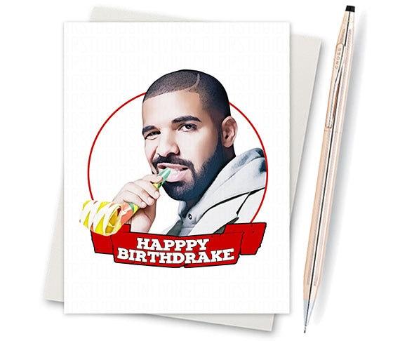 Drake Card Drake Birthday Card Funny Happy Birthday. Drake