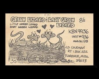 Florence Mississippi Vintage QSL Card Custom Art