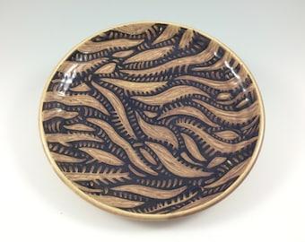 Handmade Pottery Platter, Sgraffito Platter, Ceramic Plate, Christmas Gift, Sgraffito Plate, Stoneware
