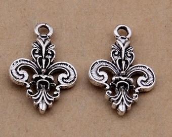 100pcs 25x15mm Antique Silver Anchor Charm Pendants Y1578