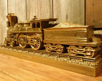 """Vintage Burwood Products. Decorative Train, """"The Philadelphia 1871"""" Decorative Train, Wall Decor,  Home Decor, Wall Hanging, Vintage rail"""