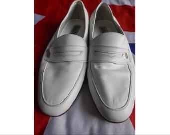 Moccasins loafers white dress vintage Bally size 42 (8)
