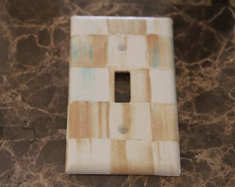 Items Similar To 4 Vintage Decorative Brass Switch Plate