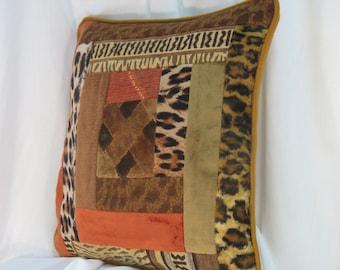 """Abidjan"" patchwork pillow cover"