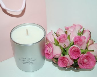 Clean Cotton highly scented luxury silver candles