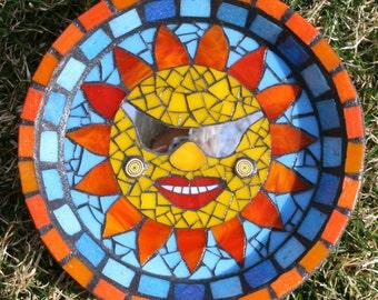Mosaic Garden Art, Glass Garden Art, Home and Garden Art