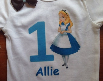 Alice in wonderland birthday shirt