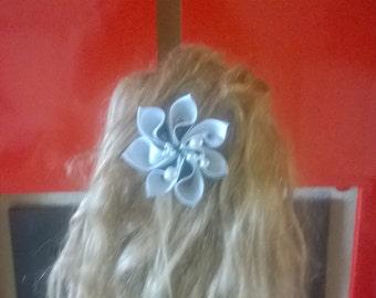 kanzashi bridal flower hair clip