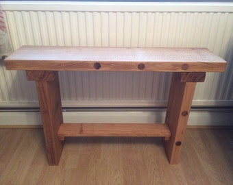 Solid oak bench seating table reclaimed oak