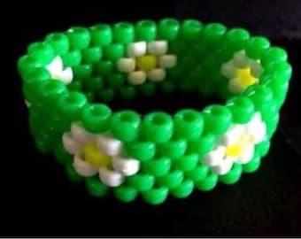 PLUR kandy Daisy rave neon cuff bracelet