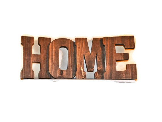 Home Sign Home Letters Rustic Wood Letters By Ellamurphydesigns