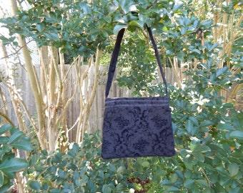 Black Denim Mini Bag (Epipen Size)