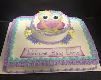 Sugarpaste Owl Cake Topper
