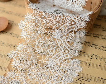 Off-white venice embroidery lace trim 13.5cm width