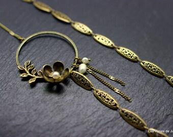 Long necklace, art deco, Romance