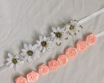 Flower headbands - floral, bridal, girly, wedding,