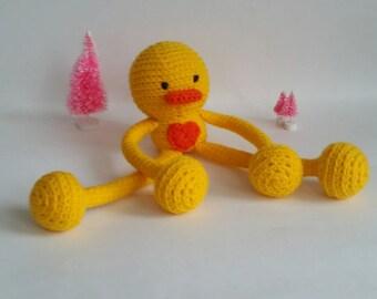 "Custom Crochet Duck Plush Amigurumi Toy ""Lovey"""