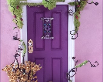 Amethyst Coloured Fairy Door