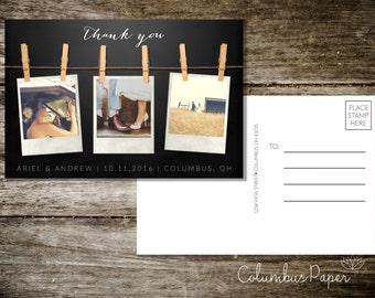 Polaroid Thank You Postcard