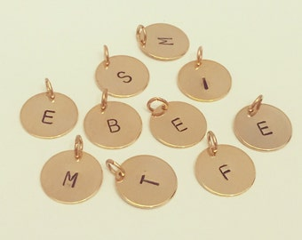 12mm Initial charm - gold or silver plated
