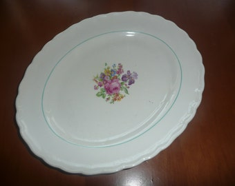 Vintage Gefle Sweden Rosa bowl plate made in sweden