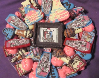 Monster High chocolates candy tray