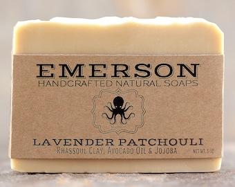 Lavender Patchouli Soap  •  Vegan Soap, All Natural Soap, Handmade Soap, Cold Process Soap, Palm Free Soap, Avocado Soap