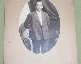 Vintage Photo Young Man - Baltimore MD - Ellerbrack Photographer