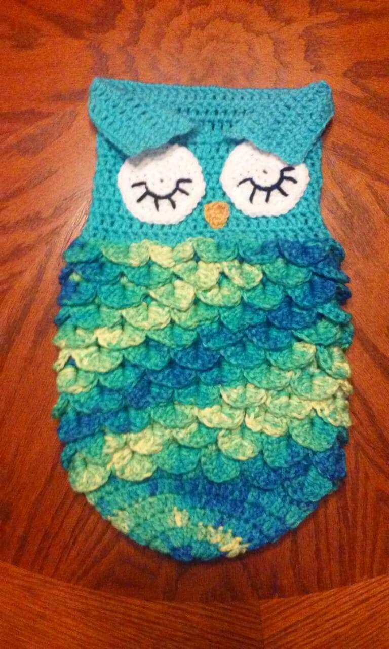 Crochet Owl Cocoon : Crocheted newborn sleeping owl cocoon / by cozycrochetcreatures