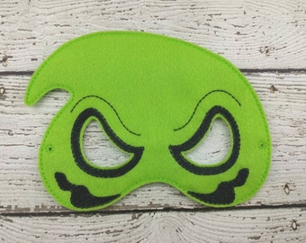 Oogie Children's Felt Mask  - Costume - Theater - Dress Up - Halloween - Face Mask - Pretend Play - Party Favor