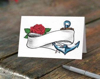 Tattoo Wedding Place Cards (white)