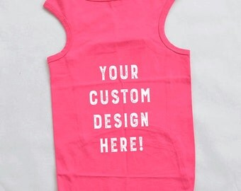 Personalized Larger Breed Dog Tank Top with Your Custom Design. Custom Dog Shirt.
