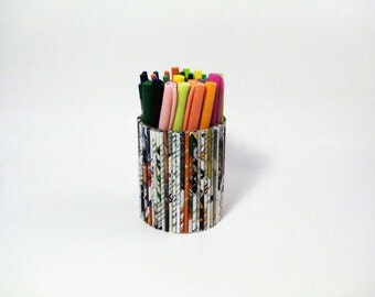 Recycled Newspaper Pen Cup