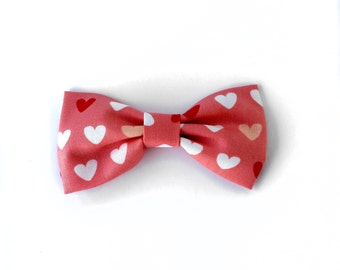 Red hearts Cotton bow