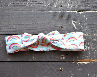 Rainbow Knotted Headband