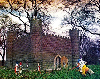 Vintage Medieval Castle ... Basic Woodworking ... PDF Pattern ... Boys Toy Play Castle ... Instant Download ... Knights of Olde Castle