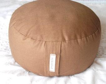 Organic Zafu Meditation Cushion (Brown)