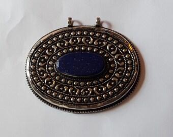 Lovely Lapis Afghan Pendant.