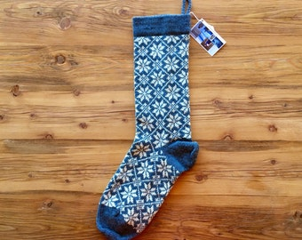 Knitted Wool Christmas Stocking