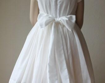 The Flora Dress: Handmade flower girl dress, tulle dress, wedding dress, communion dress, bridesmaid dress, tutu dress