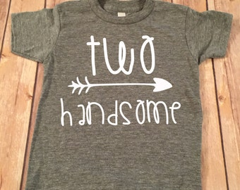 Two Handsome Birthday Shirt, 2nd Birthday Shirt, 2nd Birthday Boy Shirt, Boys Birthday top, Birthday shirt, Second Birthday Boy Shirt